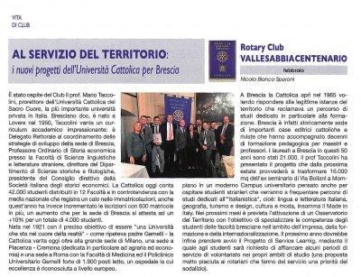 AL SERVIZIO DEL TERRITORIO: i nuovi progetti dell'Università Cattolica per Brescia