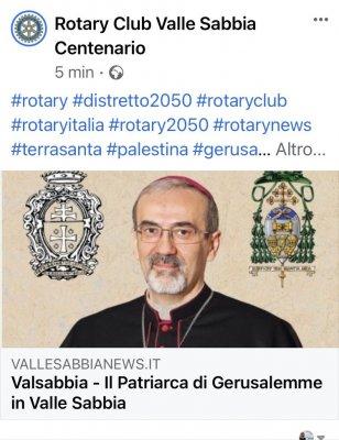 Il Patriarca di Gerusalemme in Valle Sabbia