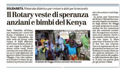 Il Rotary veste di speranza anziani e bambini del Kenya