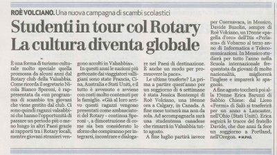 Studenti in tour con il Rotary