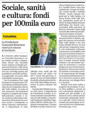 Sociale, sanità e cultura: fondi per 100mila euro