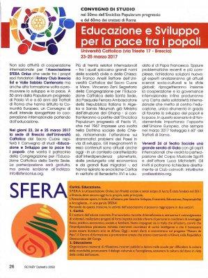 Educazione e Sviluppo per la pace tra i popoli