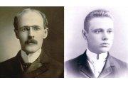 A sinistra, Paul Harris a 28 anni, quando intraprese la carriera legale a Chicago, nel 1896. A destra, Hiram E. Shorey, in una foto da ragazzo.